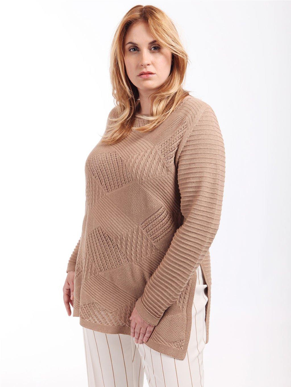 ABISSALE delší pletený svetr