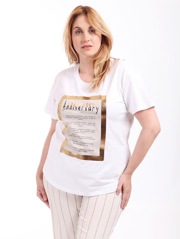 VALENTINA bílé triko s potiskem