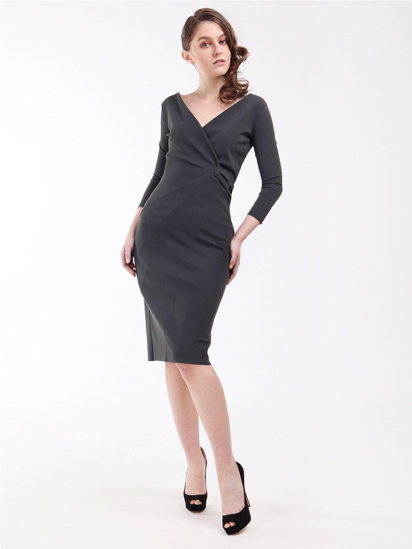 Pouzdrové šaty s uzlem  CHIARA BONI