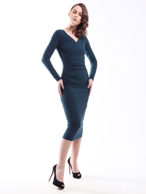 Nařasené pouzdrové šaty  CHIARA BONI