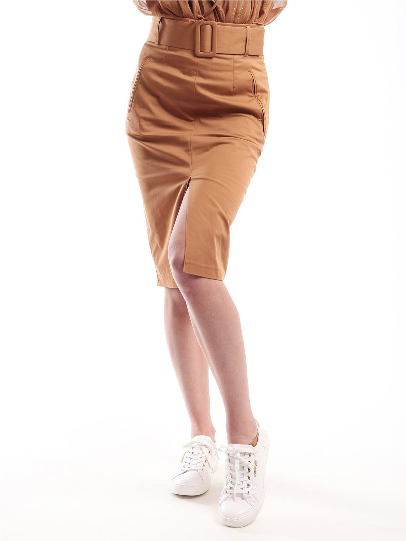 211MT2073 hnědá sukně
