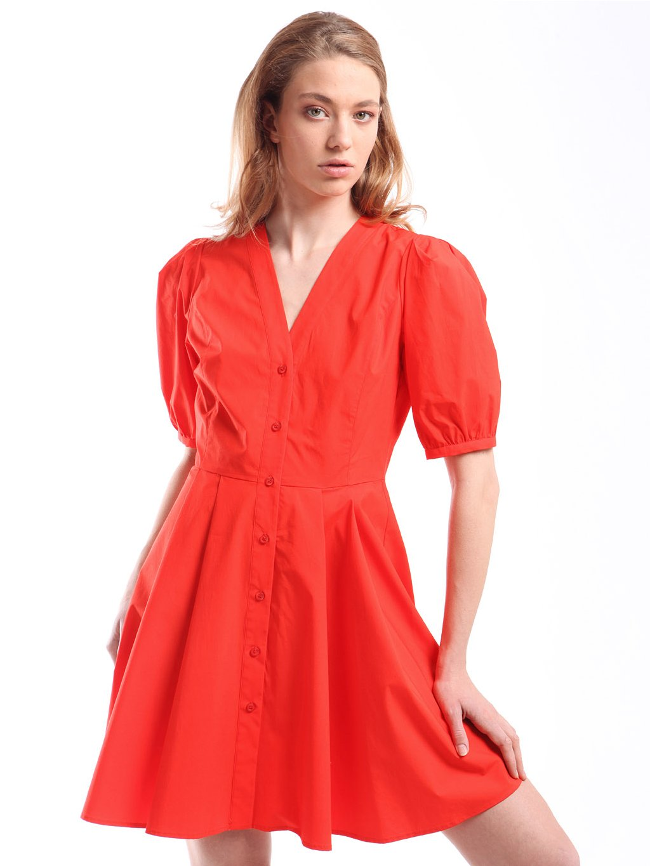 211TT245A popelínové šaty