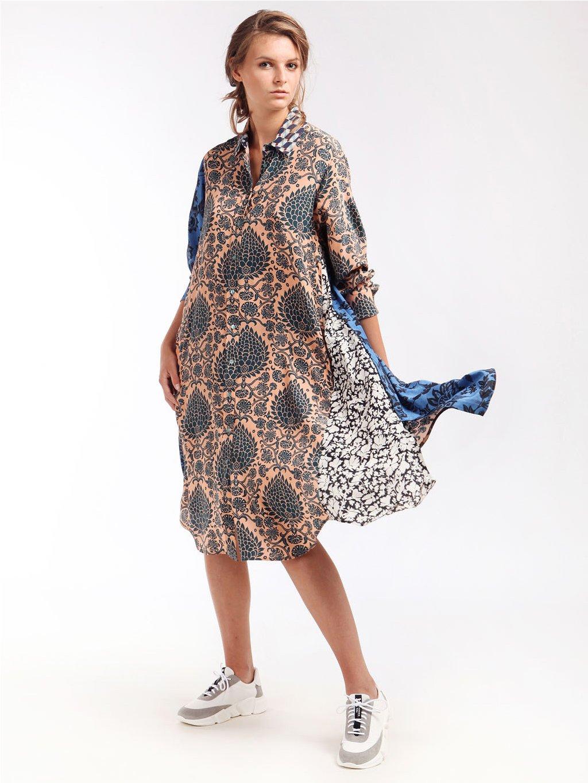 Vzorované hedvábné šaty  WEEKEND MAX MARA