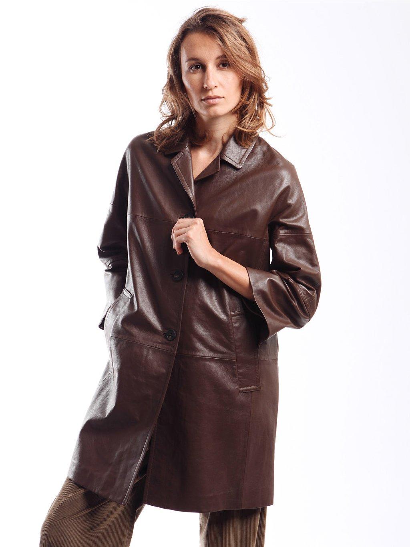 Kožený kabát  WEEKEND MAX MARA