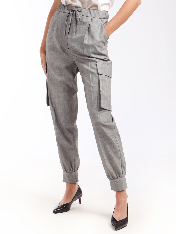 Vlněné kalhoty s kapsami  MAX MARA