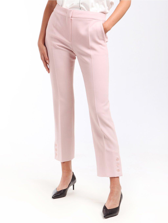 Vlněné kalhoty s rozparkem na knoflíky  MAX MARA