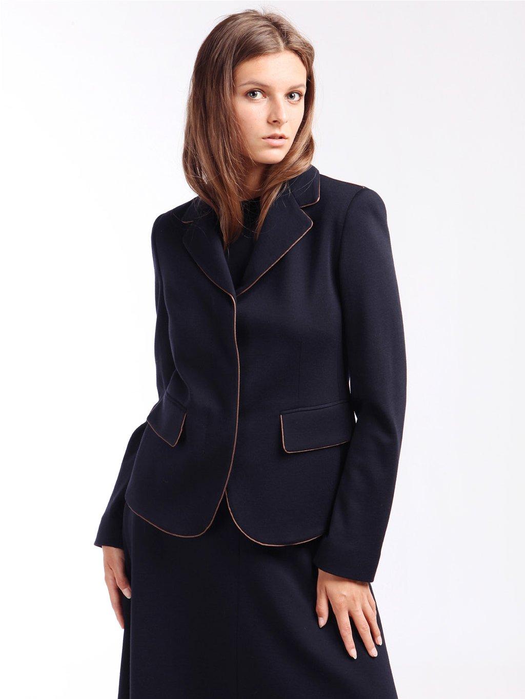 Vlněné sako s kontrastní paspulí  MAX MARA