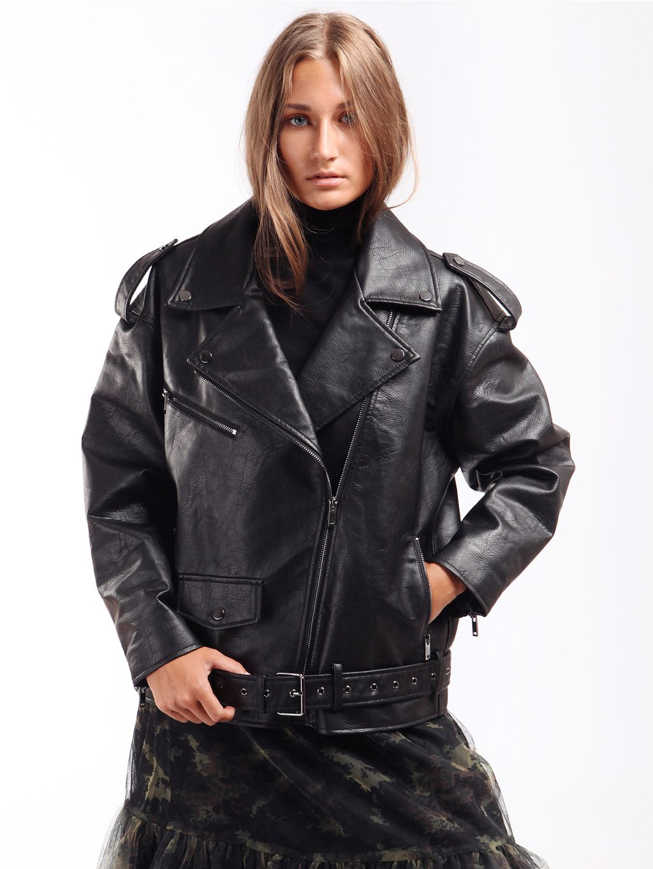 Oversize koženková bunda  TWINSET