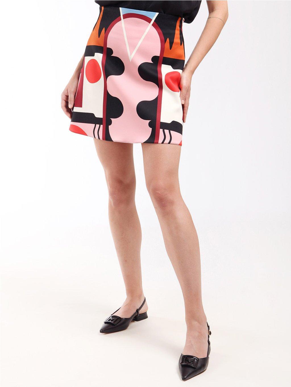 Vzorovaná krátká sukně  MARELLA