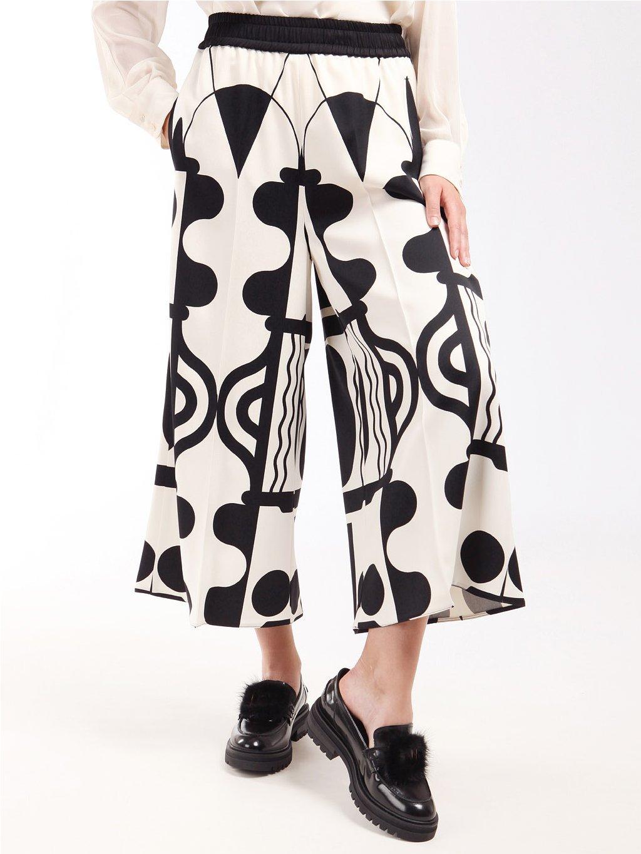 Vzorované culottes kalhoty  MARELLA