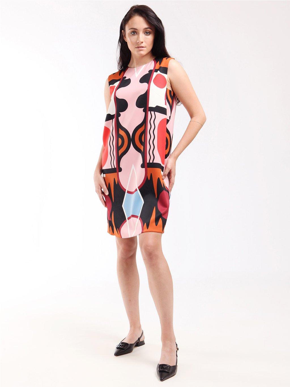 Vzorované saténové šaty  MARELLA
