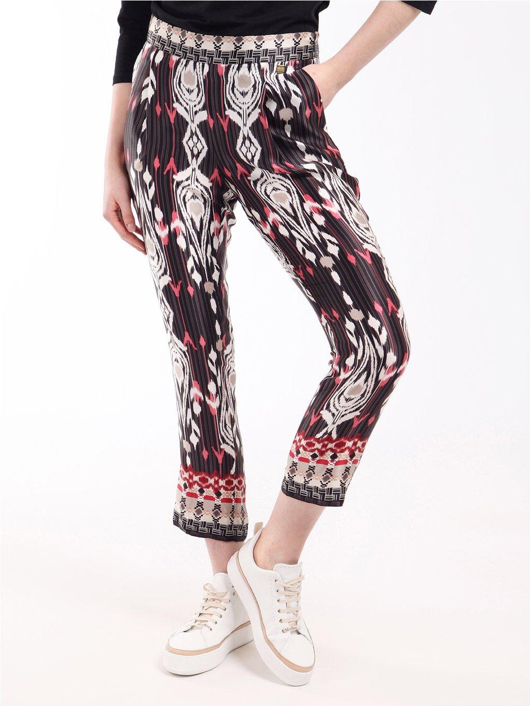 Hedvábné vzorované kalhoty  LIU JO