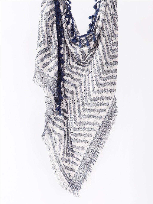 Vzorovaný šátek se střapci  TWINSET