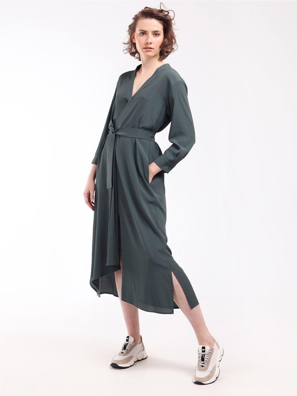 Rozšířené šaty s páskem  WEEKEND MAX MARA