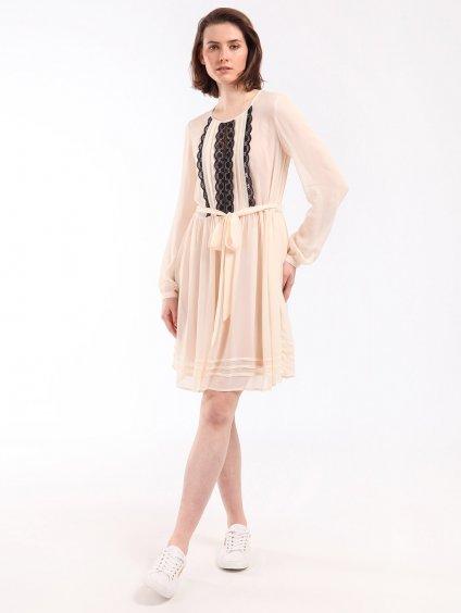 202TP2150 transparentní šaty