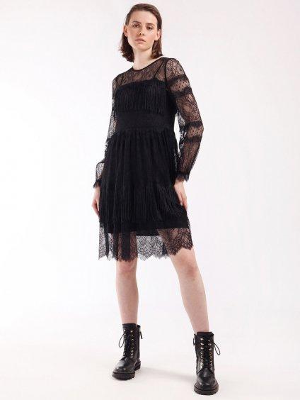 202TP374 černé šaty