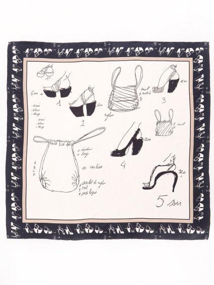 SAMOA vzorovaný šátek