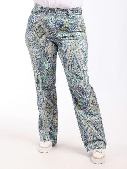 RAFFICA vzorované kalhoty