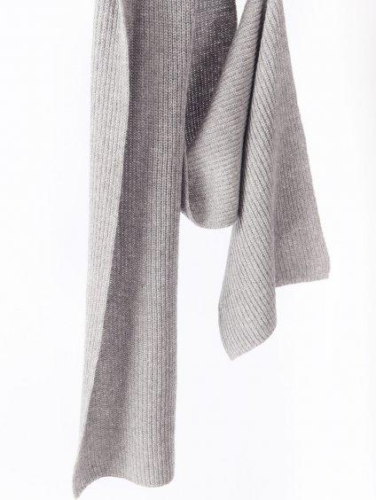 SABBIA vlněná pletená šála