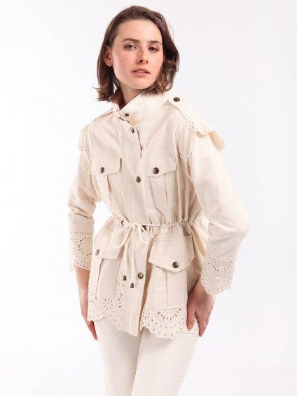 Bavlněný kabátek s krajkou  TWINSET