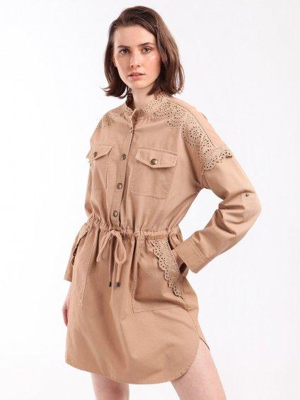 Bavlěné šaty s krajkou  TWINSET