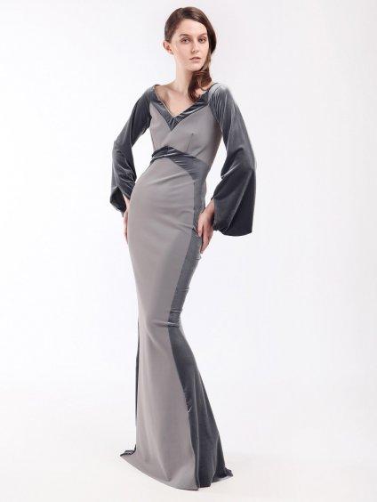 Kombinované maxi šaty se sametem  CHIARA BONI
