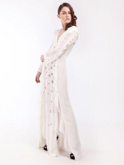 Večerní šaty s kanýry a výšivkou  ELISABETTA FRANCHI