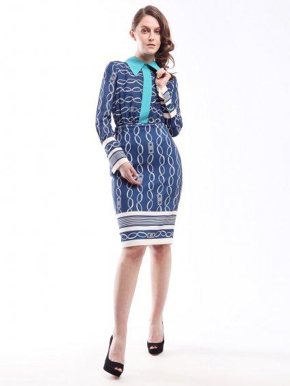 Vzorované šaty s odepínací sukní  ELISABETTA FRANCHI