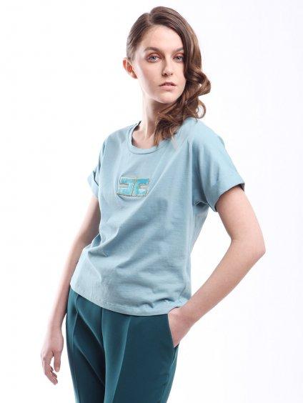 Bavlněné triko s logem  ELISABETTA FRANCHI