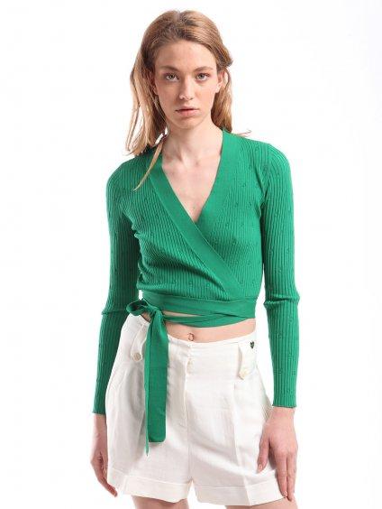 211MT3060 smaragdový svetr