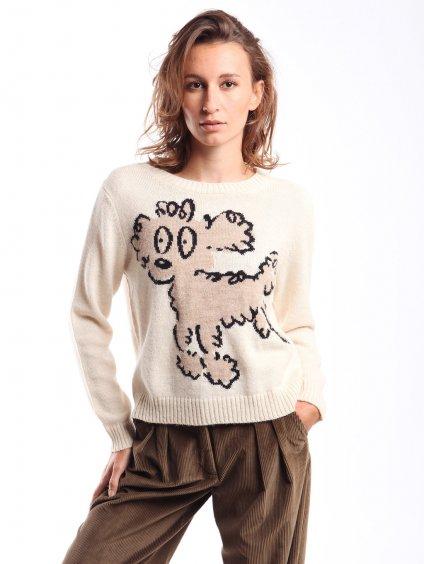 Vlněný svetr se vzorem  WEEKEND MAX MARA