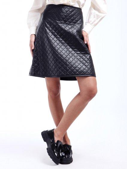 Prošívaná kožená sukně  WEEKEND MAX MARA