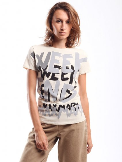 Bavlněné triko  WEEKEND MAX MARA