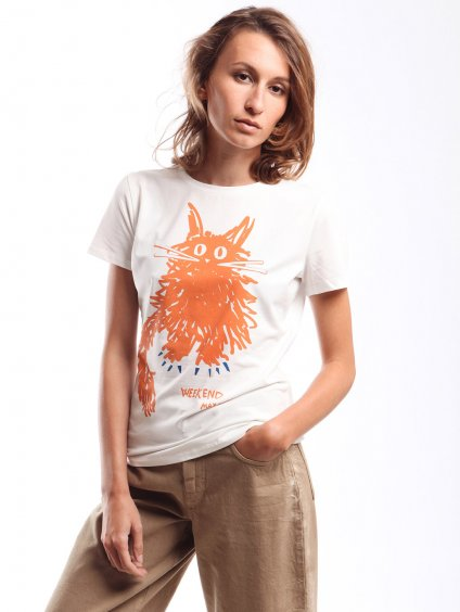 Bavlněné triko s potiskem  WEEKEND MAX MARA
