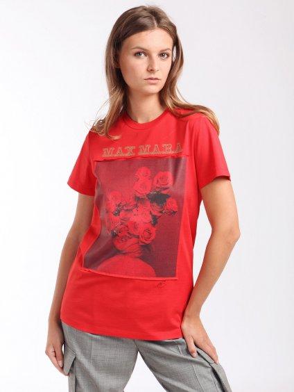 Bavlněné triko s potiskem  MAX MARA