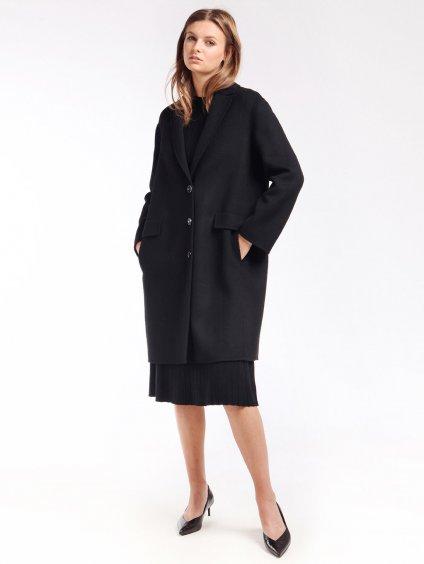 Vlněný ručně šitý kabát s knoflíky  ´S MAX MARA