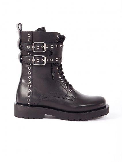 Kožené boty se cvočky  TWINSET