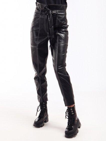 Koženkové kalhoty s vysokým pasem  TWINSET