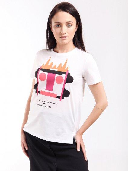 Bavlněné triko s potiskem  MARELLA