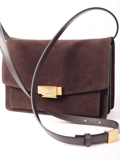 Semišová kabelka s popruhem na rameno  MARELLA