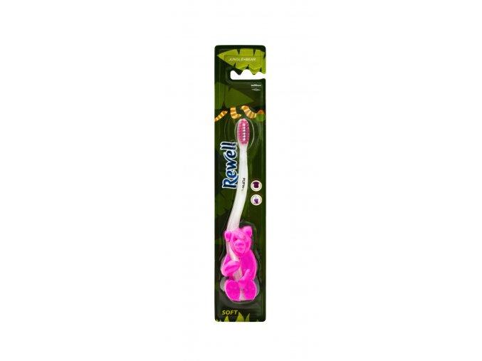Rewell zubní kartáček pro děti Jungle Bear Soft 1ks