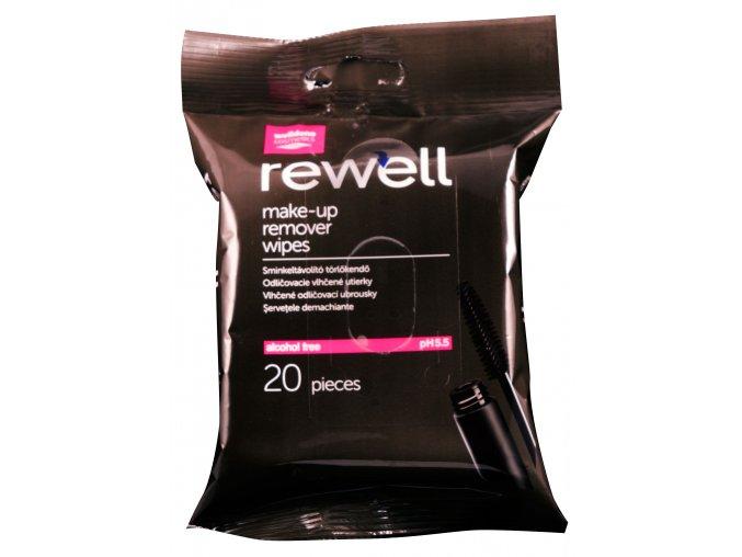 Rewell odličovací vlhčené ubrousky 20ks