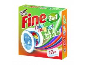 Fine antibakteriální ubrousky pohlcující barvu 12ks