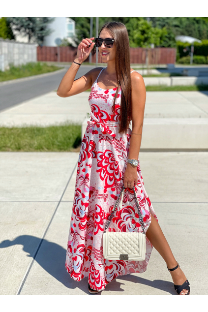 ŠATY MAXI KELLY PINK/RED
