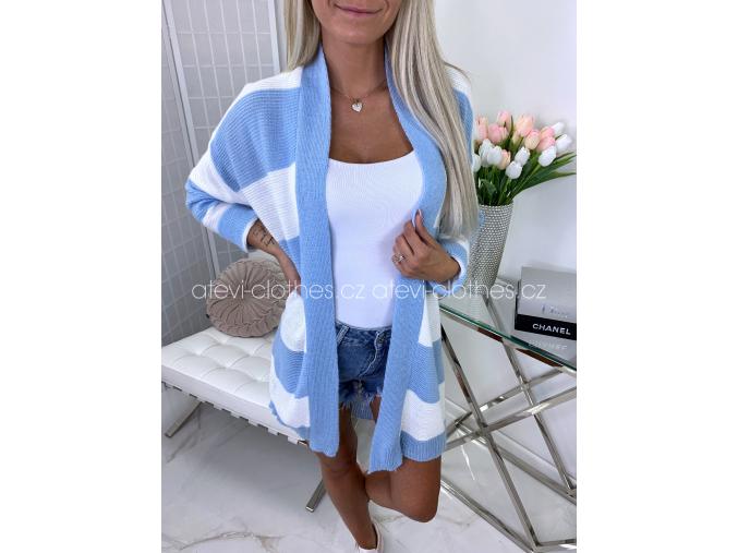 CARDIGAN LUSSI WHITE/BLUE