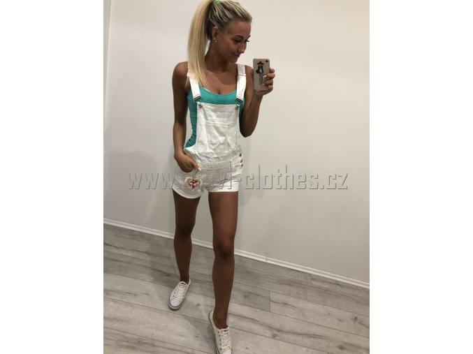 Šortky fashion white
