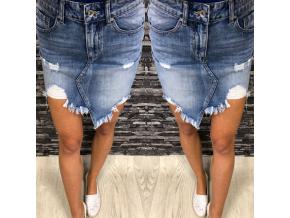 Trhaná sukně DENIM