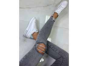 TENISKY SNEAKERS WHITE/SILVER