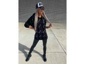 OVERSIZE MIKINA BALLA/BLACK