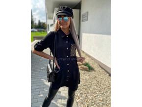 DLOUHÁ KOŠILE TINGER/BLACK